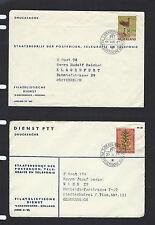 NETHERLANDS-3 COVERS-1961-PHILATELIC CANCELS-EXTERNAL TO AUSTRIA-SWITZERLAND
