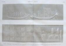 THEBES. KARNAK.  Barques symboliques faisant partie de .....  DESCRIPTION EGYPTE