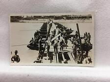 RPPC Punitive Expedition 1916 Soldiers Building Pontoon Bridge near Mission? TX