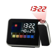 Digital Weather Station LED Projection Projector Alarm Clock Time Temperature