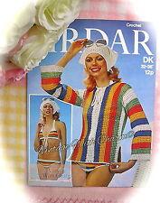 Vintage 1970s Crochet Pattern Lady's Bikini, Overtop & Scarf  £2.49 & Free P&P!