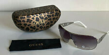 NEW! GUESS SILVER SHIELD FRAME SUNGLASSES SHADES SUNNIES GU 1045 SALE
