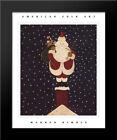 Chimney Santa 14x17 Black Wood Framed Art Print by Warren Kimble