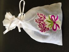 Hand Crafted Lavender Sachets,Organic Lavender Buds,in Organza Pouch Bags