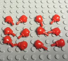 Lego X12 Pc. New Bulk Lot Boxing Mini Figures Red Fighting Gloves Parts X6 Pairs