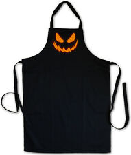 Glowing Halloween Pumpkin I Bbq Cooking Kitchen Apron Horror Trick or Treat