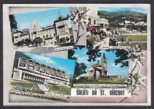 AOSTA SAINT VINCENT 113 SALUTI da... VEDUTINE Cartolina FOTOGRAFICA viagg. 1967