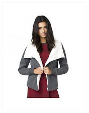 2016 NWT WOMENS ELEMENT COZEE JACKET $65 M charcoal grey lined sherpa