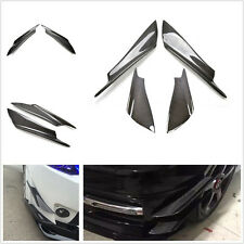 4 Pcs Real Carbon Fiber DIY Car Pickup Front Bumper Splitter Fins Decoration Kit