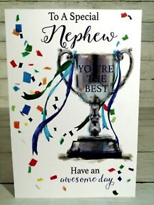 To A Special Nephew, You're The Best, Birthday Card With Trophy