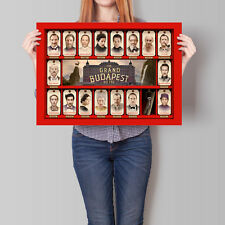 The Grand Budapest Hotel Movie Cast Poster Wes Anderson Film 16.6 x 23.4 in (A2)