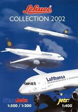 Schuco Modellflugzeuge Prospekt Collection 2002 brochure model airplanes