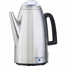 Hamilton Beach Kettle Electric Percolator, Stainless Steel, Coffee Maker 12-Cup
