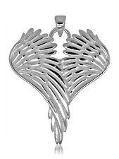 925 solid Sterling Silver Heart Angel Wings pendant
