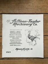 ORIGINAL 1903 Aultman Taylor Machinery Co Catalog, Mansfield, OH, Farm Machinery
