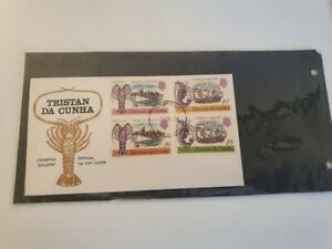 Tristen Da Cunha 1st day cover FDC Crawfish industry stamps - 4d, 10d, 1/6 and 2