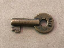 """Vintage Brass Barrel Key 1 15/16"""" Marked 941A"""