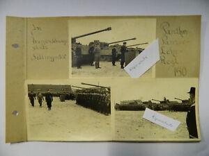 5X Foto Panzer Panther Lehr Regt. 130 später   Normandie Einsatz