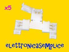 """connettore giunto striscia led a """"T"""" 5050 2 pin 10mm 5 pezzi (C110)"""
