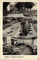 Stempel und Postkarte v. ALBERSDORF Holstein AK 1961 ua. Hotel Pension Waldesruh