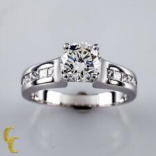 14k Oro Bianco 1.22 Carato Diamante Fidanzamento Anello Misura: 6.5
