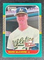 1987 Donruss The Rookies Mark McGwire #1 Rookie Card RC Athletics Centered