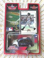 Fleer Derek Jeter Yankees White Rose Collectible Trading Card & Die Cast Car New