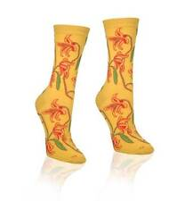 Yellow Stargazer Lily Lilly Design Women Novelty Sock Socksmith New