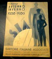 CATALOGO AUTUNNO INVERNO 1938-1939 SARTORIE ITALIANE ASSOCIATE TORINO