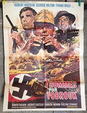 cinema-affiche originale- 7 HOMMES POUR TOBROUK - Robert Hossein 60x80cm