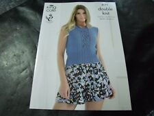 King Cole Double Knit Ladies Summer Top and Sweater Pattern 4171 (71 - 117 cm)