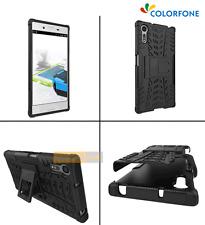 COQUE 2 en 1 Support Amovible + TPU Gel Noir pour SONY Xperia XZs