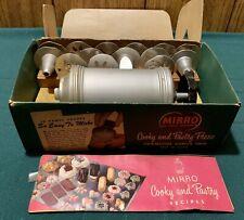 Vtg Antique Mirro Cooky & Pastry Press #358AM Complete In Original Box