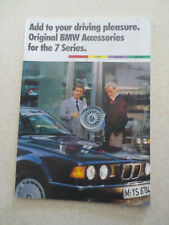 1989 BMW accessories for the BMW 7 series cars advertising booklet