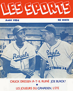 Montreal Royals - 1954 Les Sports Magazine Cover, 8x10 Color Photo