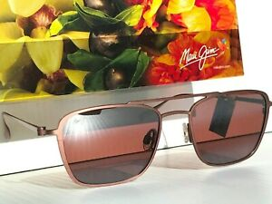 NEW Maui Jim EBB & Flow ROSE GOLD  Polarized BRONZE Lens Sunglass R542N-19A
