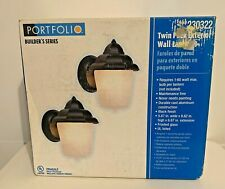 Portfolio Builders Item#230322 Twin Pack Exterior Wall Lights