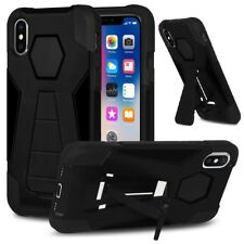 Amzer Black Dual Layer Hybrid Shockproof Case Cover for Apple iPhone X XS 5.8""