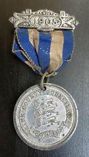 Dorset County Council Bianco Metallo medaglione frequenza SCOLASTICA 1905