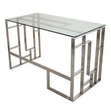 LumiSource Madarin Desk, Clear - OFD-MNDRCL