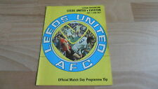 LEEDS UNITED  V EVERTON -  RARE 1977 DIVISION 1 FOOTBALL PROGRAMME NEW YEARS DAY