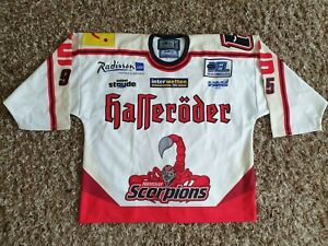 Hannover Scorpions ice hockey jersey trikot shirt 2004 2005 HYNES 95 match worn
