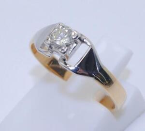 18carat 18k Gold 0.20 Carat Diamond Set Solitaire Ring UK Size -M US Size - 6