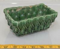 "UP-CO USA 100-6"""" Pottery Vintage Green Ceramic Planter Mid-Century Modern tthc"