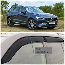 Wide Window Visors Side Sun Rain Guard Vent Deflectors For Volvo XC60 2017-2018