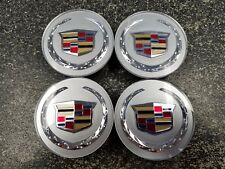 Set of (4) Cadillac Center Caps in Acrylic  ATS CTS DTS SRX STS XLR XTS  9597375