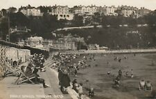 """""""Vintage old photo postcard from collection"""" Abbey Sands. Torquay"""