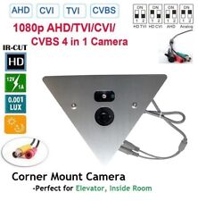 Corner Mount Elevator Camera 700 TVL High-Res w/ 2.8mm Wide Angle Fixed Lens