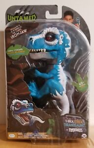 UNTAMED T-REX BY FINGERLINGS - IRONJAW (BLUE) - INTERACTIVE COLLECTIBLE DINOSAUR