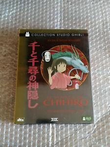 COFFRET COLLECTOR LAQUé LE VOYAGE DE CHIHIRO GHIBLI 2 DVD + JEU CARTES